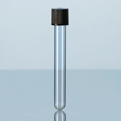 Disposable culture tubes, soda-lime glass, with screw cap